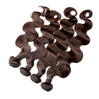 9A Dark Brown Malaisienne Virgin Hair Extensions Remy Cheveux Weave Trame Brésilienne Natural Corps Wave Cheveux Trames 8