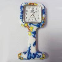 Wholesale Digital Nurses Watch - Silicone Prints Nurse watches Pocket Square Watch Doctor Fob Quartz Watches Kids Gift Watches Fashion Patterns watch