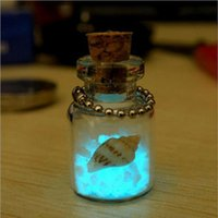 Wholesale Ship Bottle Charm - Creative diy small ornaments Japan set Okinawa love night light sand phone chain luminous wishing bottle pendant wholesale free shipping