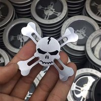 Wholesale Beyblade Pieces - Free Shipping Skeleton Head Fidget Spinner Tales Pirate King One Piece Finger Spinner AL Alloy Metal Toy Tri Hand Spinners Puzzle beyblade
