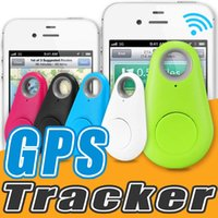 Wholesale Gps Mini Phone - Mini GPS Tracker Bluetooth Key Finder Anti-lost For Wallet Kids Bidirectional Search Mobile Phone Selfie Shutter For Android With Package