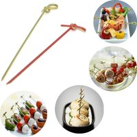 Wholesale Cocktail Forks Disposable - 100pcs Set Long Disposable Bamboo Fork Twisted Party Buffet Fruit Desserts Food Cocktail Sandwich Fork Stick Skewer 9-12cm