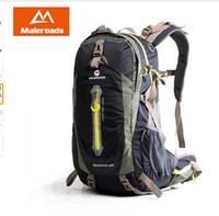 equipo de senderismo de montaña al por mayor-Maleroads Camping Senderismo Mochila Bolsa de Deporte Viaje Trekk Mochila Equipo de Escalada 40 50L para Hombres Mujeres varones Adolescentes