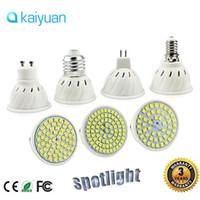 led élèvent des ampoules blanches achat en gros de-Ampoules E27 E14 MR16 GU10 LED 110V 220V 5w 6w 9w Ampoule LED Spotlight 48 60 80 LED Lampada 2835 Lumières de maïs Spot Cultivez l'éclairage de l'usine