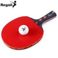Wholesale Table Tennis Racket Bag - REGAIL Table Tennis Racket Ping Pong Paddle + Table Tennis Racket Waterproof Bag Pouch Red Indoor Table Tennis Accessory BZ