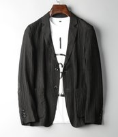 Men black silk coat - The high end luxury handsome man s sack suit thin fold tencel fabric man s casual reduce age coat