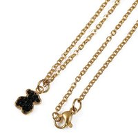 Wholesale Onyx Necklace For Women - 2017 Stainless Steel Bear Pendant Necklace 2 Colours Never Fade Traditional Style For Women Hot Selling