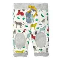 Wholesale Baby Trousers Pencil Pants - Boys Cotton Stripe Long Pants Designer Kids Clothing Fashion Baby Girl Trousers with Appliques Children Pants 10 Colors