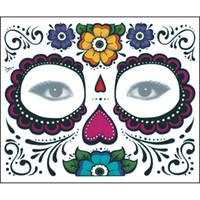 Wholesale Temporary Lips Eyes Tattoos - Makeup Waterproof Tattoo Sticker Body Art Temporary Holloween Opera Face Tattoo Sticker Supplies Free Shipping