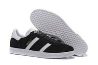 kaliteli yürüyüş ayakkabıları toptan satış-En Kaliteli 2017 Erkekler Kadınlar Casual Süet Gazelle Siyah Gri Kırmızı Sarı Hafif Yürüyüş Yürüyüş Ayakkabıları 36-45