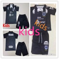 Wholesale Kids Shirt Tiger - Quality 17 18 Kids Club Mexican Monterrey UANL Black Jersey Home White Tiger W. Tighten Tattoo De foot child soccer shirt