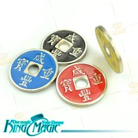 Wholesale Chinese Magic Trick Wholesalers - Chinese Coins Magic Tricks 4 Coin and 4 Shells without Instruction