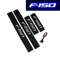 Wholesale Door Sills - Blue LED Illuminated Door Sill Scuff plate Covers For 2009-2014 Ford F-150 (Fits: F-150)