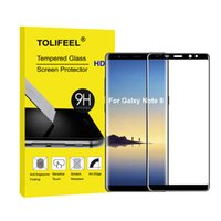 Wholesale Anti Surface - 9H Tempered Glass for Samsung Galaxy Note 8 3D Curved Surface Full Cover Protective Film for Samsung Note8 Screen Protector