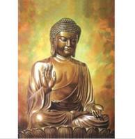 ingrosso la migliore tela di pittura di arte astratta-Pittura a olio enorme astratta moderna di arte della parete sul migliore regalo di Canvas-Buddha (Frameless)
