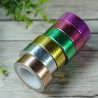 Wholesale Washi Tape Pcs - 6 Pcs Rainbow Color DIY Couple Photos 1.5cm x 10m Decor Props Washi Paper Tapes for DIY Scrapbook Decor Wedding Photo Album-2016