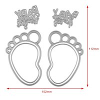 Wholesale Scrapbooking For Baby - Baby Foot Cutting Dies Stencil For DIY Scrapbooking Card Paper Craft Photo Album Painting Embossing Decor Craft