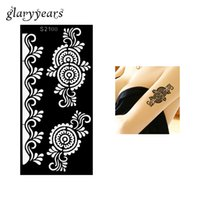 Wholesale Flower Tattoo Stencils - Wholesale-1 Piece Spindrift Flower Wave Henna Tattoo Stencil Drawing for Beauty Women Arm Art Airbrush Painting Henna Tattoo Stencil S2100