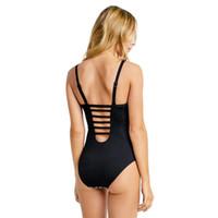 Wholesale Women One Piece Bodysuits - One Piece Swimsuit Women Swimwear Solid Beach Novelty Line Plus Size Bodysuits Vintage Retro Bathing Suits Monokini