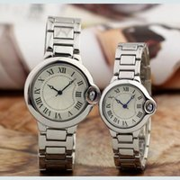 Hot Couple Luxury women men Relógios Top Brand Moda relógios Full Stainless Steel Band Quartz Relógio de pulso para Senhoras Senhoras Valentine Gift