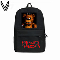 Wholesale Hot Kids Backpacks - Wholesale- 2016 Hot Sale Five Nights At Freddy's Backpacks For Children Freddy Chica Foxy FNAF Cartoon School Backpacks Kids Favourite Bags