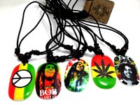 Wholesale Mens Necklace Wholesale - NEW 20pcs Bob Marley Pendant Necklace Hip top Styles necklace Wholesale Mens Fashion Jewelry Lots