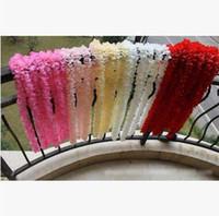 amante das flores roxas venda por atacado-Atacado 1 m Wisteria Flor Artificial Banquete Festa de Casamento Wisteria Flower Vine Wall Teto Decorações Da Flor Frete Grátis