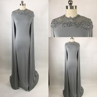 Wholesale Dress Cape Black - Cheap Real Image 2017 Long Mermaid Evening Dresses With Cape Illusion Neck Lace Mother of the Bride Dresses Long Formal Party Prom Gowns