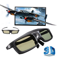 Wholesale Benq New 3d Glasses - Wholesale- 2015 New Arrival Hot Sale 144Hz 3D DLP-Link IR Active Shutter Rechargeable Glasses For BenQ