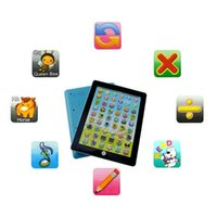 Wholesale Touch Screen Laptop Notebook Computers - Touch Screen Y-Pad English Learning Laptop Computer Game Music Phone Learning Machine Baby Kids Educational Tablet Toy