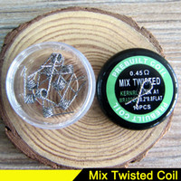 Wholesale Heater Resistance - ecig coil wire vape Mix Twisted Fused Clapton NICHROME Alien Wire Coil Quad Tiger heater coil Heating Resistance Wire for Box RDTA mod