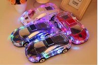 Wholesale Model Cars Led Lights - MLL-63 Mini Crystal Car Model Bluetooth Speaker Colorful LED Light Speaker Handsfree Speaker Support TF Card FM Radio VS Pill Pulse Speaker