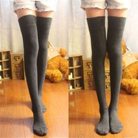 Wholesale Sexy Stocking Socks - Feitong Fashion 2016 1 Pair Newly Sexy Stocking Female Cotton Over The Knee Socks Thigh High Stocking Thinner Hot Sale