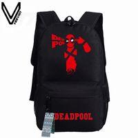 Wholesale Marvel Canvas - Wholesale- 2016 New Deadpool Backpack Marvel Comics Superheros Shoulder School Bag For Teenagers Canvas Luminous Backpack Travel Rucksack