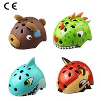 Wholesale Bike Bicycle Kid - 2017 High quality kids cycling helmets animal style child safety bike bicycle caps size S 50-54cm M 54-58cm