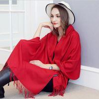 Wholesale Male Cashmere Scarf - Luxury Brand designer Scarf Unisex Hot Female Male Wool Cashmere Scarfs Pashmina Tassels 200*70cm Wrap Shawl Scarves YYA674