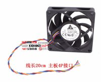 Wholesale 12v Cpu Fans - Free Shipping New and Original AUB0712MB 7015 12V 0.24A 7cm 4 -pin PWM CPU cooling fan for For Delta 70*70*15mm