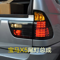 Wholesale Bmw X5 Tail Lights - FOR SONAR 99-02 BMW X5 taillights Xiushan old BMW LED taillights blackened modified tail lights