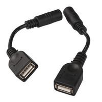 cabo de alimentação macho usb dc venda por atacado-Atacado-2pcs 5.5 x 2.1mm DC Feminino para USB AF DC Masculino Cabo de Conector de Energia para Laptop Adaptador QJY99