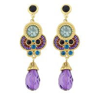Wholesale Earring Imitation Gemstone - New Vintage Imitation Gemstone And Beads Alloy Dangle Earrings For Women Jewelry