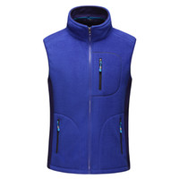 Wholesale Ripped Vest - Men Autumn Winter Outdoor Sports Fleece Vest Climbing Trekking Sleeveless Jacket Hiking Camping Softshell Windproof Vest