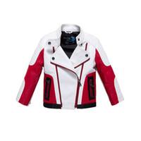 pu jacken für kinder großhandel-Kausaler Jackenmantel des Art und Weisejungen Neuheitleder PU-Jackenmantel für Jungenkursteilnehmerkindkinderoberbekleidung-Lederkleidung mit 5-14yrs