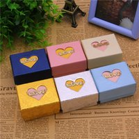 Wholesale Valentines Day Jewelry Box - New arrival jewelry boxes Valentine 's Day LOVE Letter boxes loving couple rings boxes free shipping