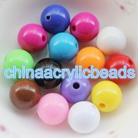 Wholesale 6mm Round Acrylic Beads - 1,000pcs 6MM Acrylic Beads Opaque Round Plastic Charms Round Bubblegum Chunky Opaque Loose Spacer Beads For Jewelry Making