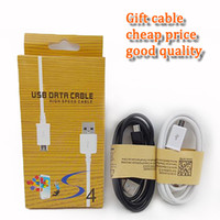 Wholesale White Mini Usb Cable - wholesale cheap price Micro USB Cable mini micro V8 1M 3FT Sync data Cable charging cord with retail box for smart cellphone