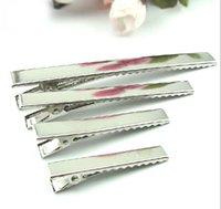single-prong-clips großhandel-Großhandel 100 Teile / los DIY Metall Einzel Prong Alligator Aligator Clips Baby Haarbögen Haar Werkzeug