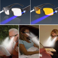 Wholesale LED Reading Glasses Multi Strength Eyeglass Spectacle Diopter Magnifier Light UP Diopter Presbyopic Glasses with box