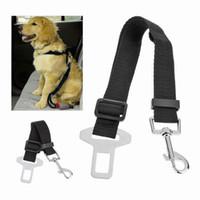 kemer kurşun toptan satış-Köpek Koşum 1 adet Ayarlanabilir Araç Emniyet Pet Köpek Emniyet Kemeri Pet Aksesuarları Kemer Koşum Kısıtlama Kurşun Tasma Seyahat klip