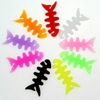 Wholesale bobbin holders - Fishbone Silicone rubber fish bone earphones headphone cable bobbin winder cord winder cable holder for MP3 MP4 Wholesale free DHL
