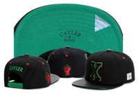 Wholesale Leather Hats Women - 2017 GOOD Quality brand Cayler & Sons X letter leather for men and women Gorras Snapback hats Baseball Caps Casquette Sports Outdoors